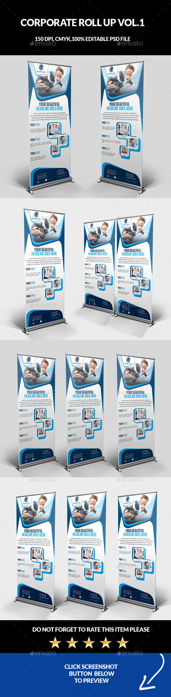 Corporate Business Roll Up Banner Vol.1 - Signage Print Templates