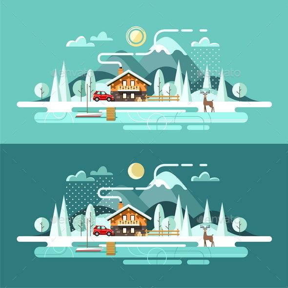 Nature Winter Landscape - Landscapes Nature