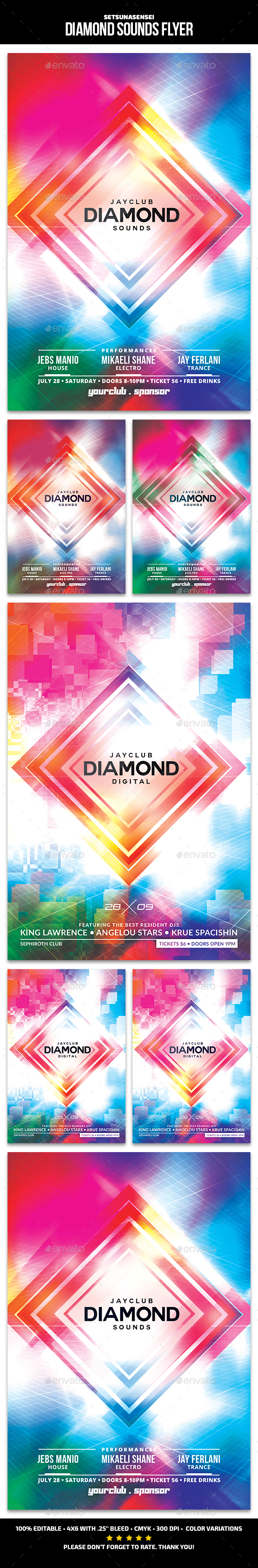 Diamond Sounds Flyer - Clubs & Parties Events