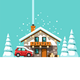 Winter Holidays Vacation on Resort House in Forest - GraphicRiver Item for Sale
