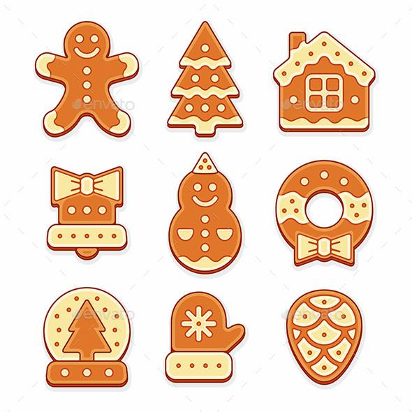 Christmas Gingerbread Cookies - Decorative Symbols Decorative
