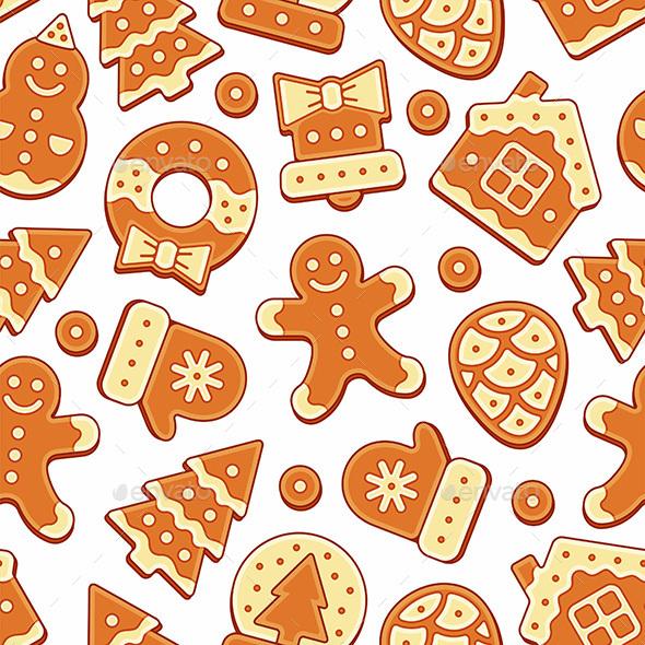Christmas Cookies Pattern - Patterns Decorative