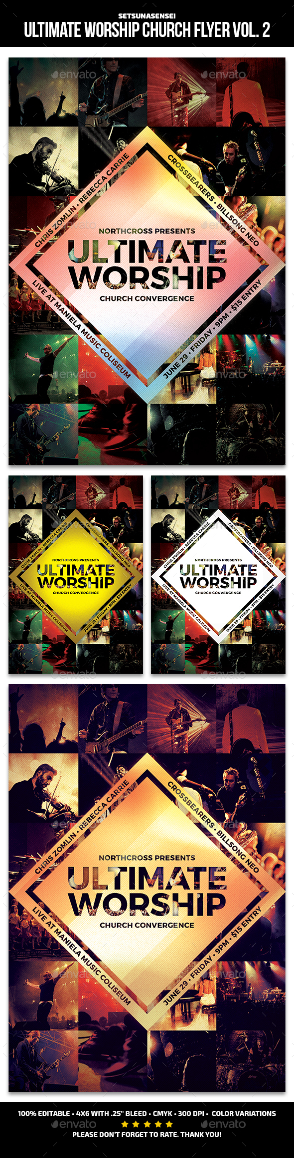 Ultimate Worship Church Flyer Vol. 2 - Church Flyers