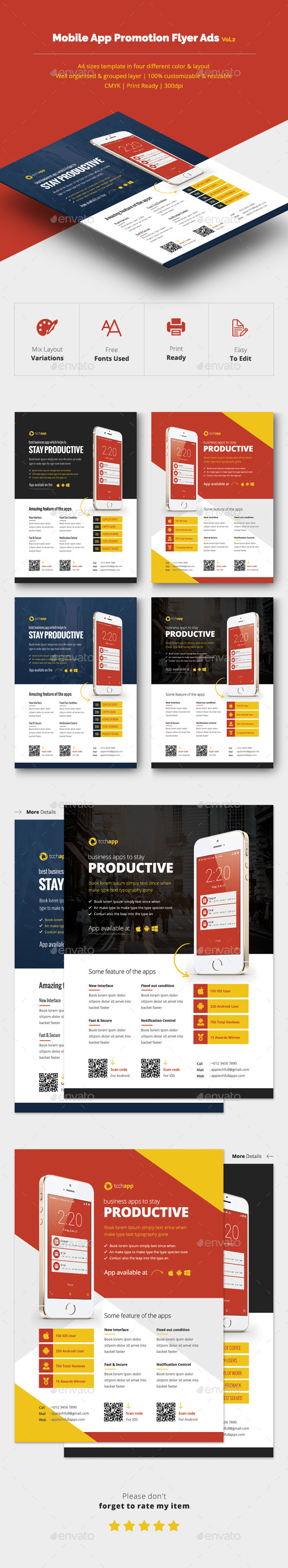 Mobile App Promotion Flyer Ads Vol.2 - Corporate Flyers