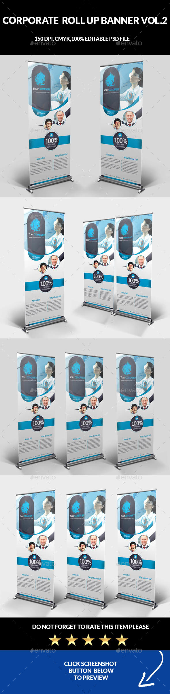 Corporate Business Roll Up Banner Vol.2 - Signage Print Templates