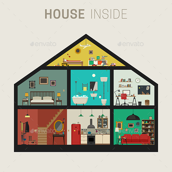 House in Cut - Buildings Objects