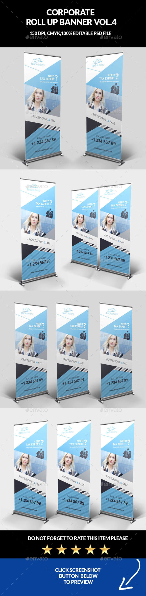 Corporate Business Roll Up Banner Vol.4 - Signage Print Templates