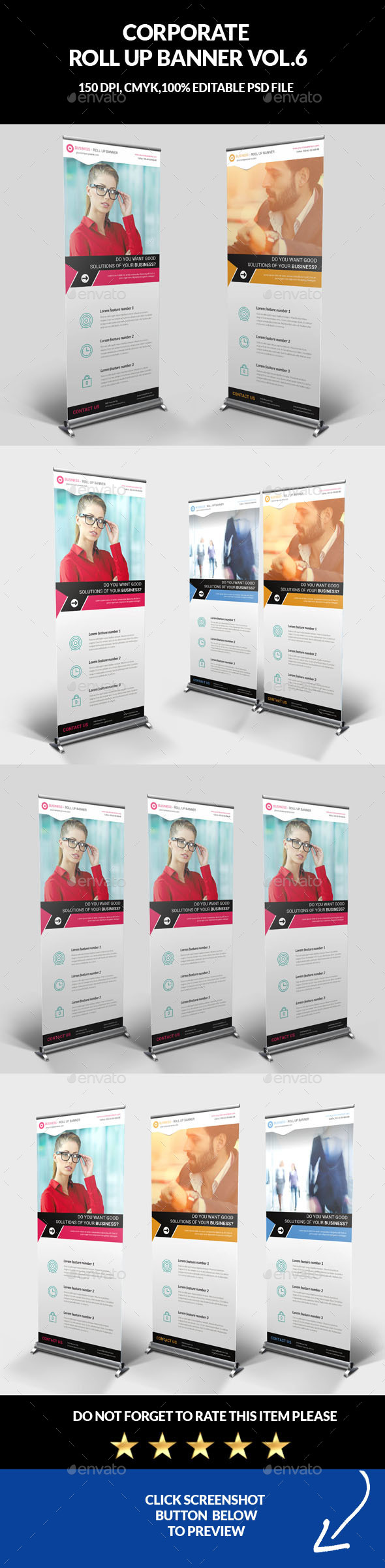 Corporate Business Roll Up Banner Vol.6 - Signage Print Templates