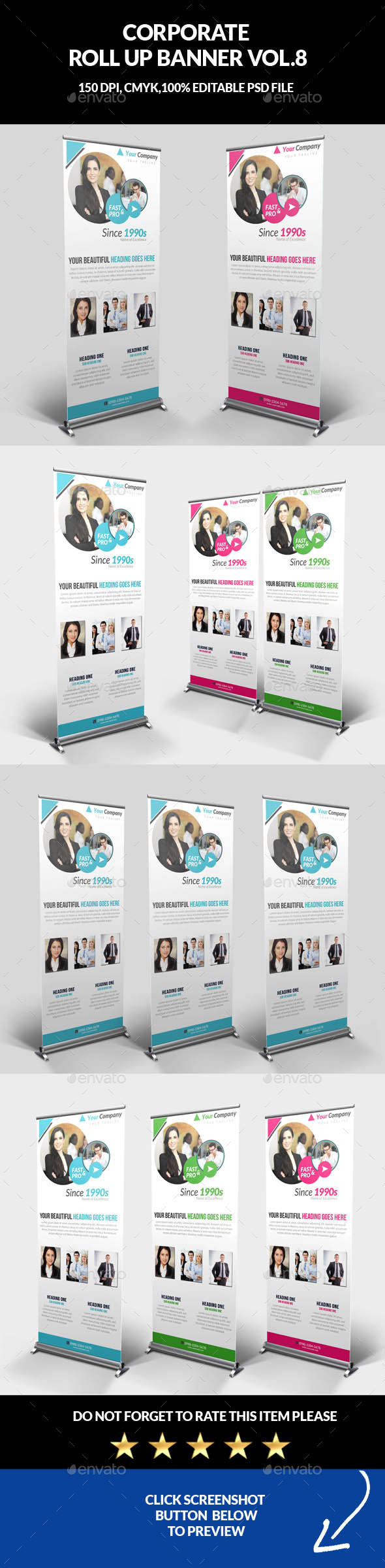 Corporate Business Roll Up Banner Vol.8 - Signage Print Templates