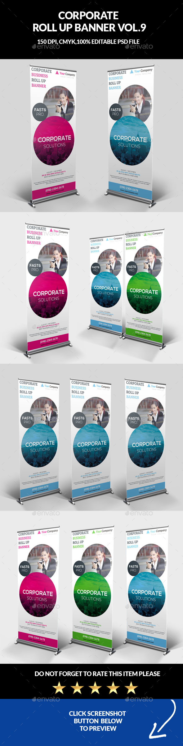 Corporate Business Roll Up Banner Vol.9 - Signage Print Templates