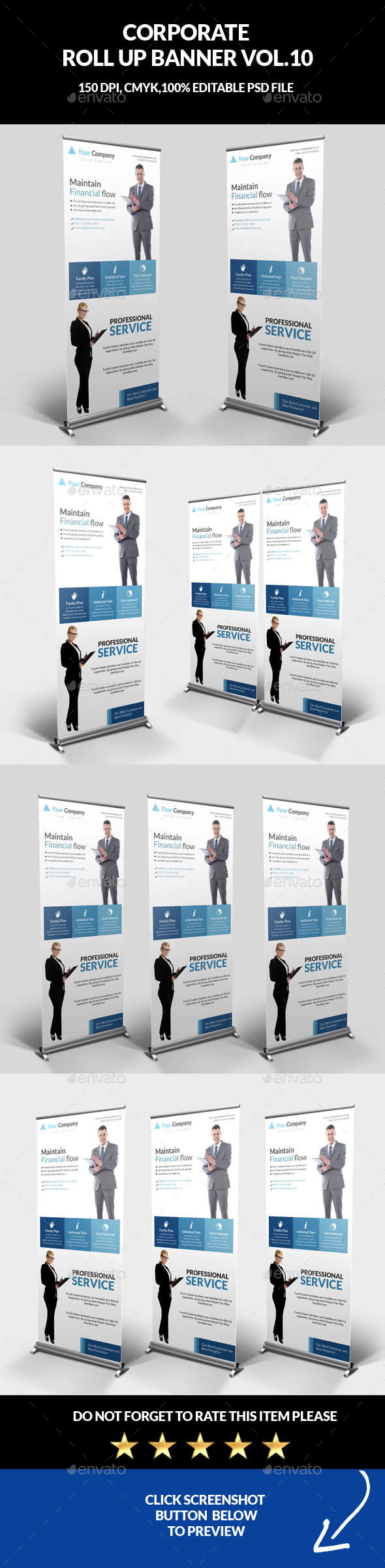 Corporate Business Roll Up Banner Vol.10 - Signage Print Templates
