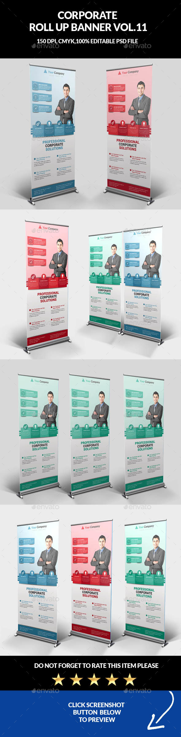 Corporate Business Roll Up Banner Vol.11 - Signage Print Templates