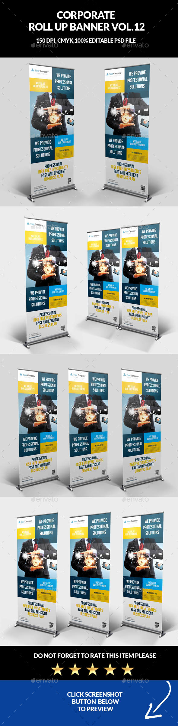 Corporate Business Roll Up Banner Vol.12 - Signage Print Templates