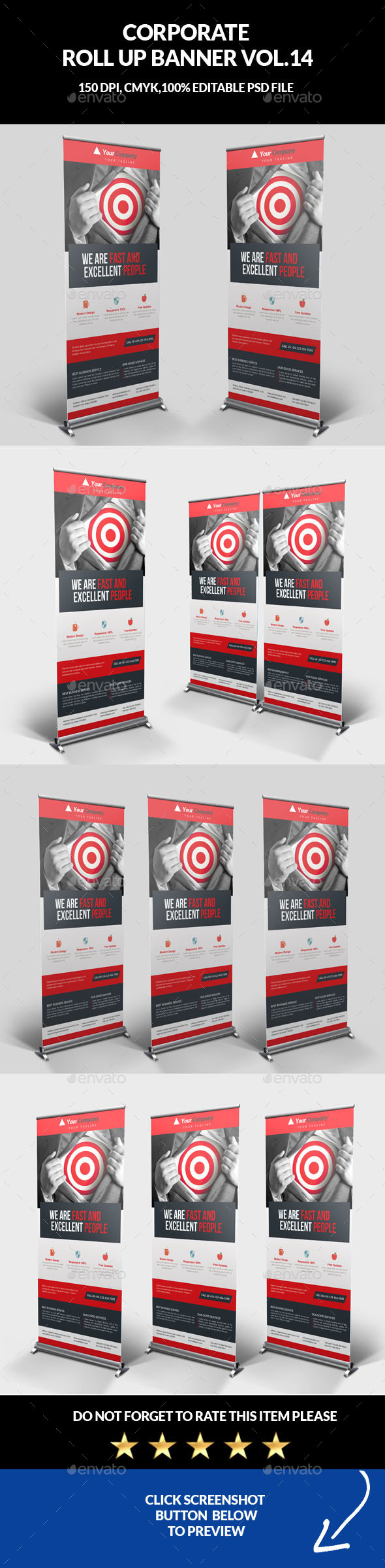 Corporate Business Roll Up Banner Vol.14 - Signage Print Templates