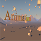 Low poly cubes and text in the mountains - 3DOcean Item for Sale