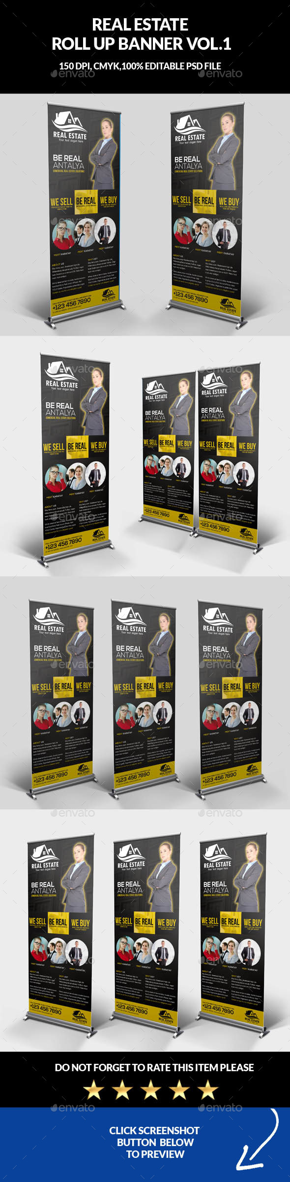 Real Estate Roll Up Banner - Signage Print Templates