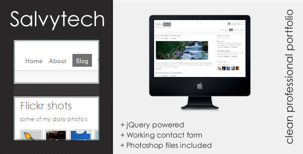Free Download Salvytech - Clean professional template Nulled Latest Version