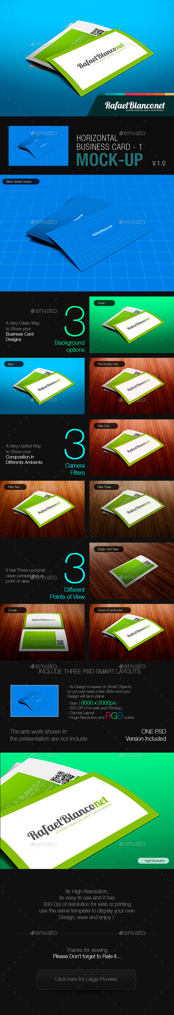 Horizontal Business Card Mock-Up - Miscellaneous Displays