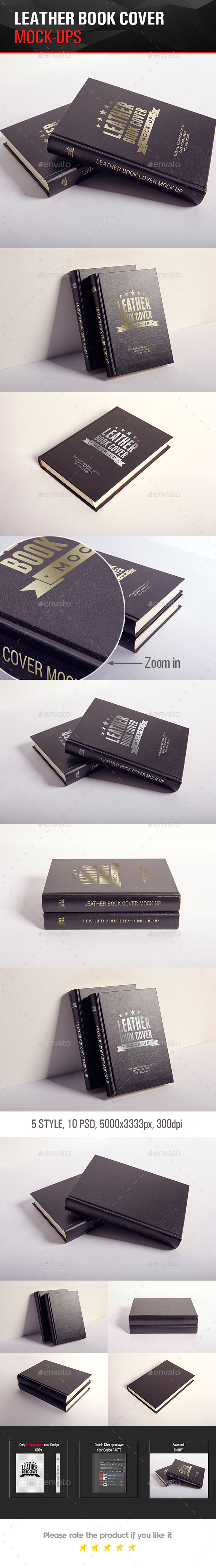 LEATHER BOOK COVER MOCK-UP - Books Print