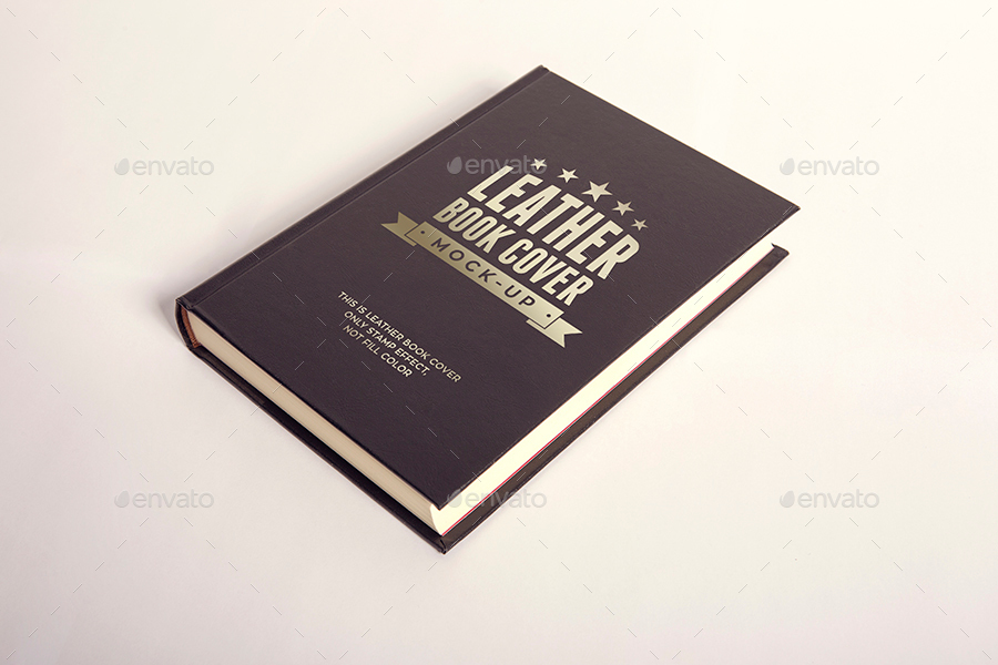 Book Cover Graphicriver : Leather book cover mock up by xepeec graphicriver