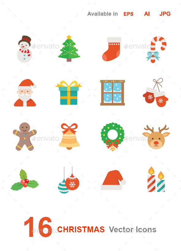 Christmas Vector Icons - Seasonal Icons