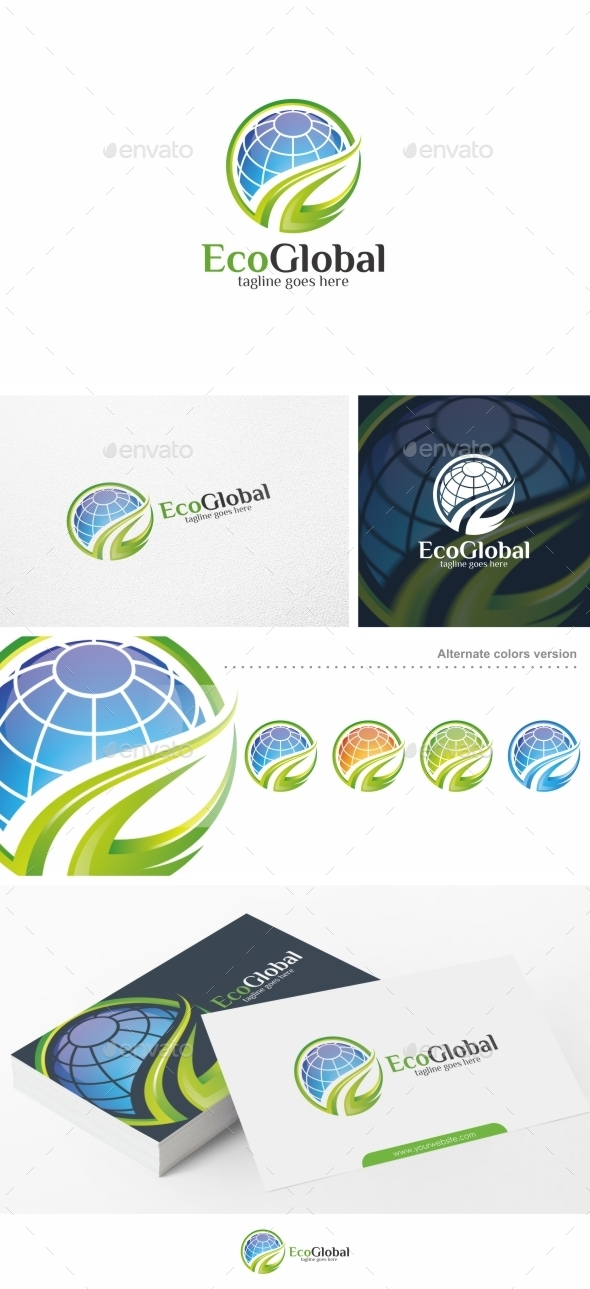 Eco Global / Globe - Logo Template - Nature Logo Templates