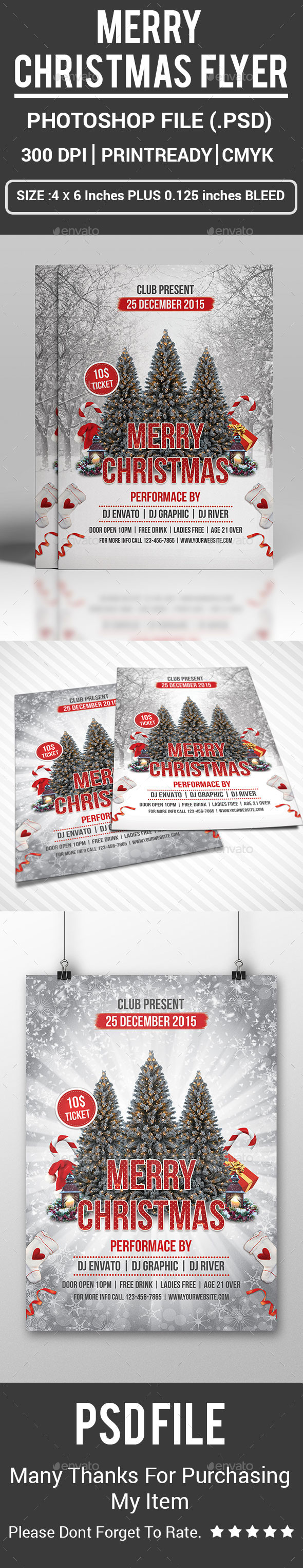 Merry Christmas Flyer - Events Flyers