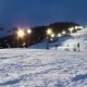 Night Skiing At The Ski Slopes.  - VideoHive Item for Sale