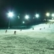 Night Skiing At The Ski Slopes And Snow Cannons - VideoHive Item for Sale