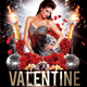 Valentine Day Celebraion Party Flyer