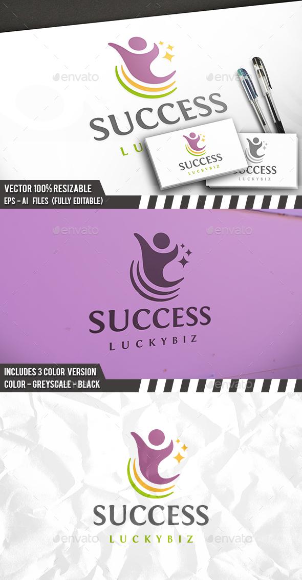 People Success Logo - Humans Logo Templates