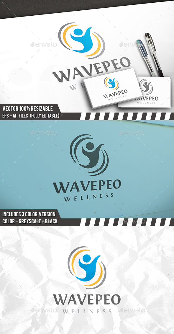 Wave People Logo - Humans Logo Templates