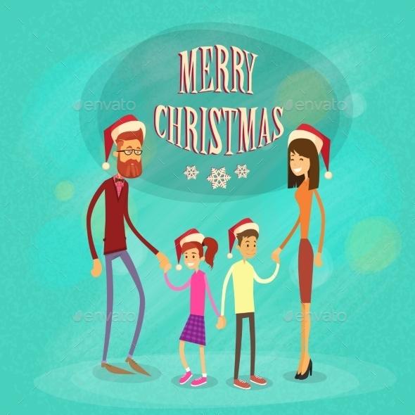 Family Merry Christmas Holiday Happy New Year - Christmas Seasons/Holidays