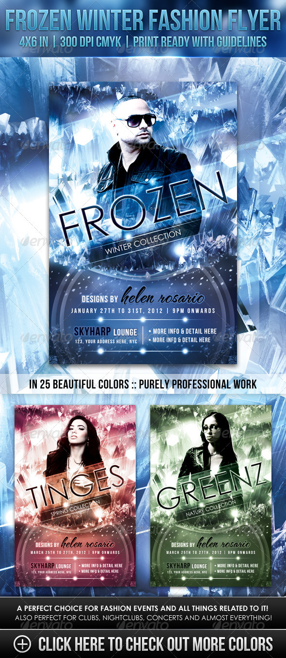 Frozen Winter Fashion Flyer - Miscellaneous Events