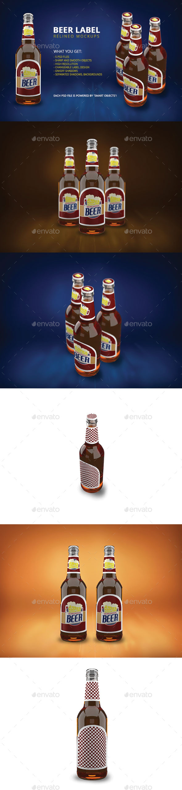 Beer Bottle Mock-up Pack Vol.2 - Food and Drink Packaging