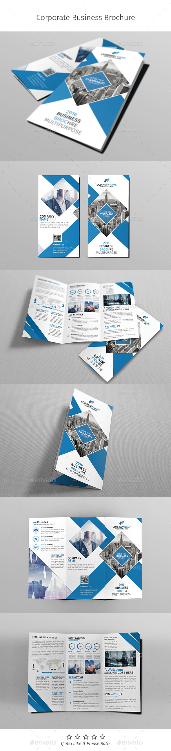 A4 Corporate Business Flyer Template Vol 04 - Corporate Brochures