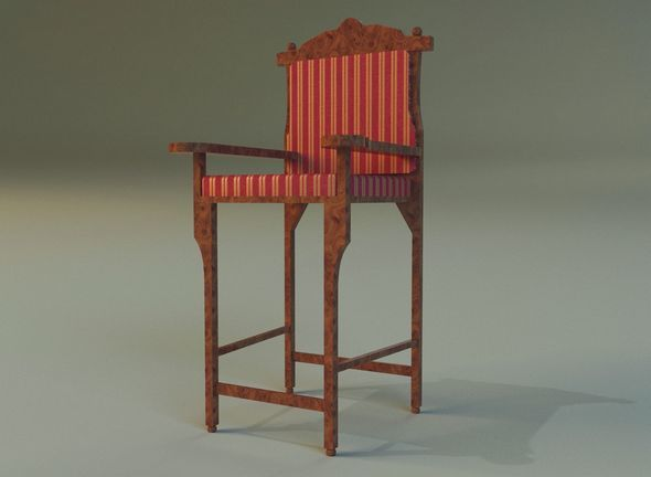 Wooden chair in royal style - 3DOcean Item for Sale