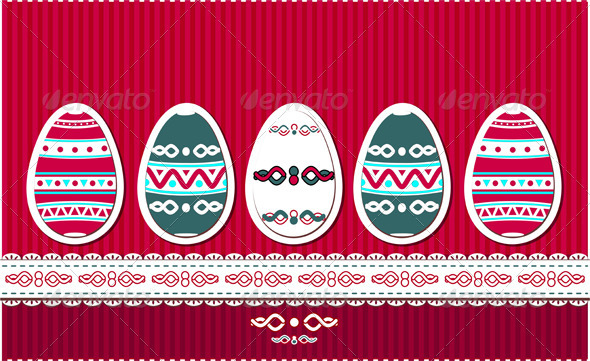 Easter eggs with ethnic ornament - Miscellaneous Seasons/Holidays