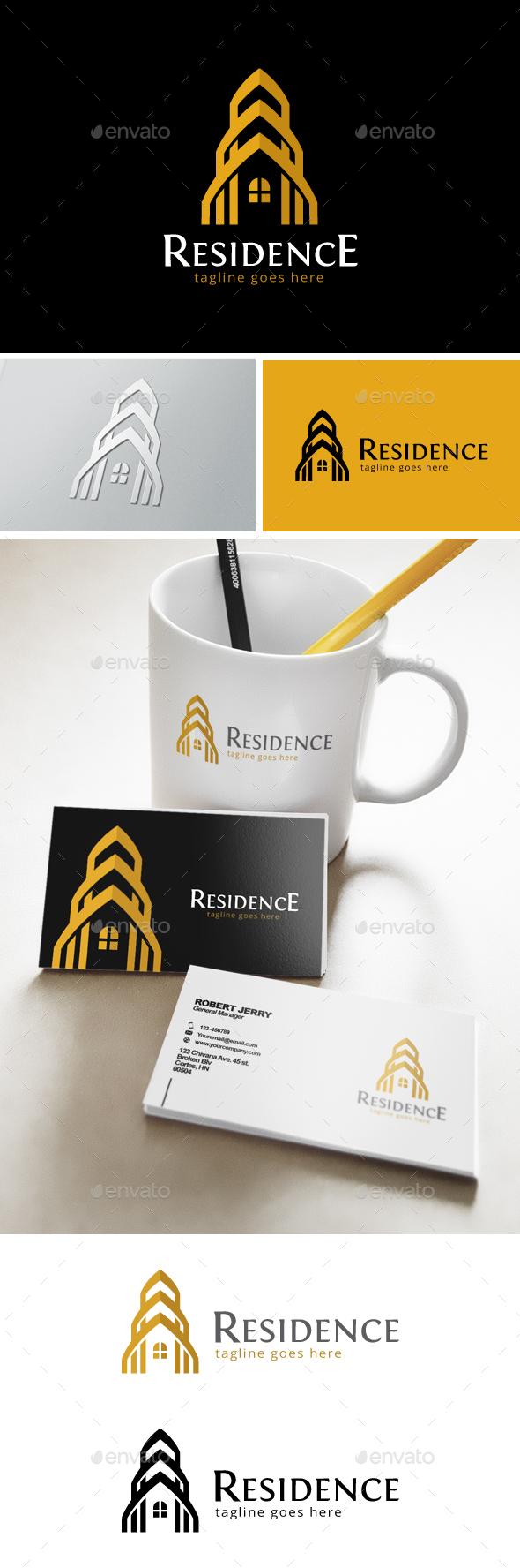 Residence Logo  - Buildings Logo Templates