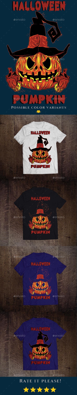 Halloween Pumpkin T-shirt Design - Events T-Shirts