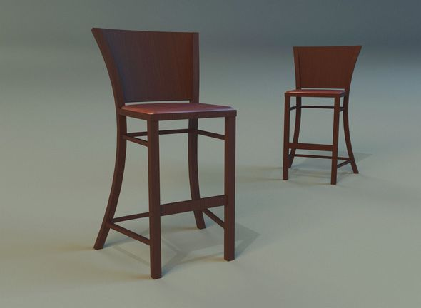 Bar stool dark - 3DOcean Item for Sale