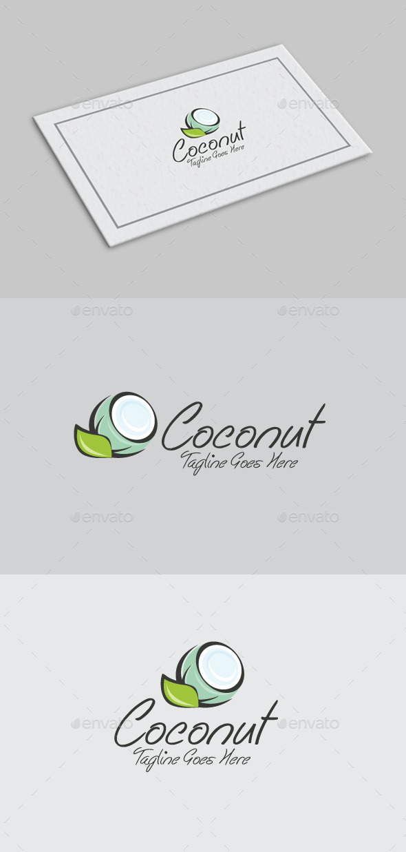 Coconut Logo Template - Food Logo Templates