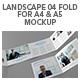 Landscape 04 Fold For A4 & A5 Mockup - GraphicRiver Item for Sale