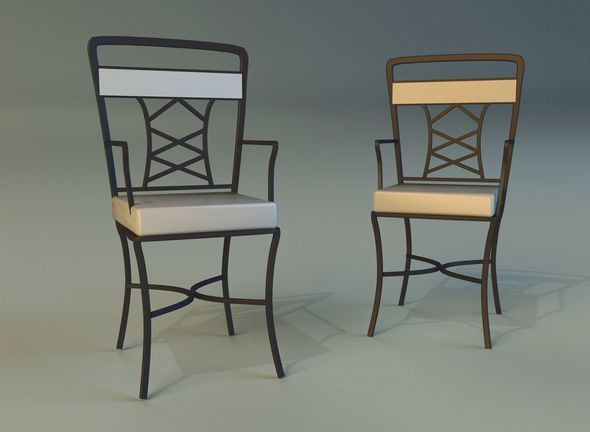 Chair metal kitchen - 3DOcean Item for Sale