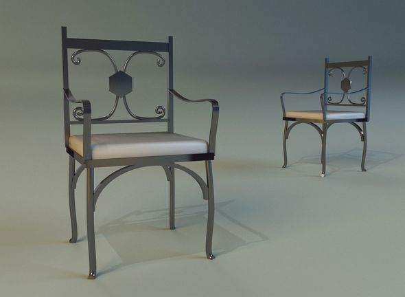 Chair metal kitchen II - 3DOcean Item for Sale