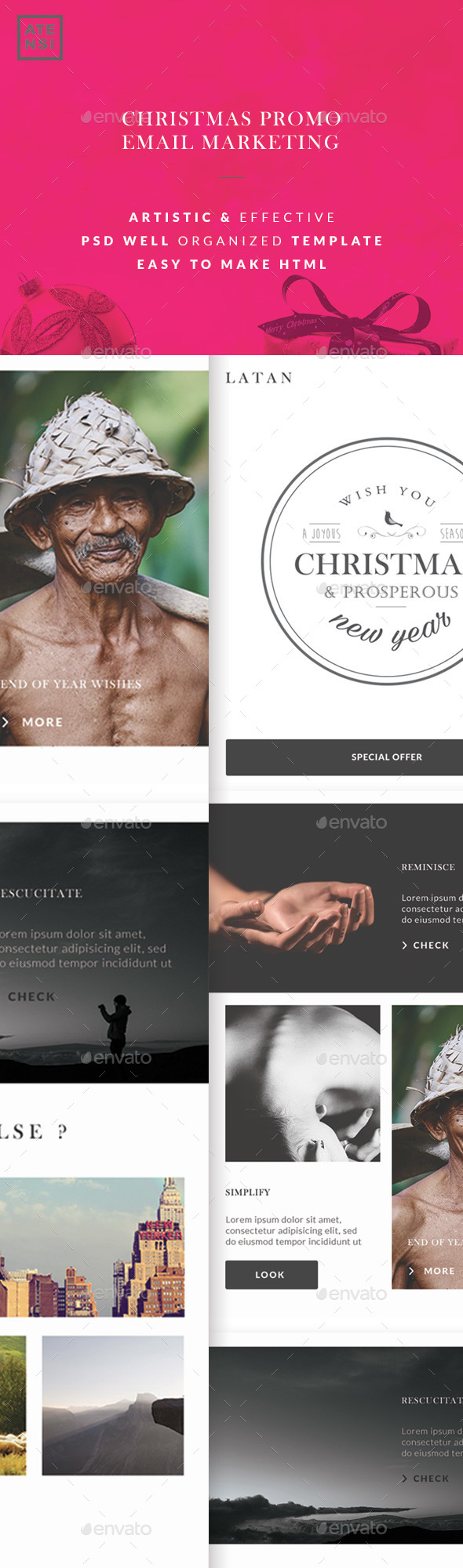 LATAN Christmas Email - E-newsletters Web Elements