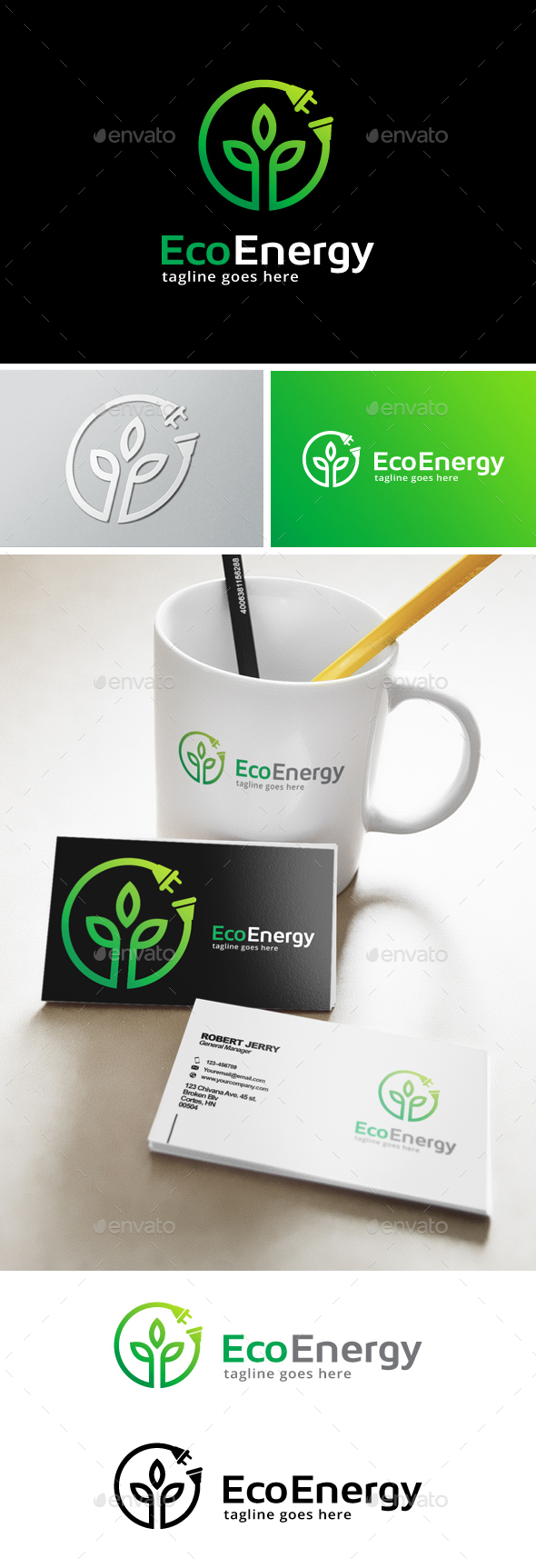 Green Energy Logo - Nature Logo Templates