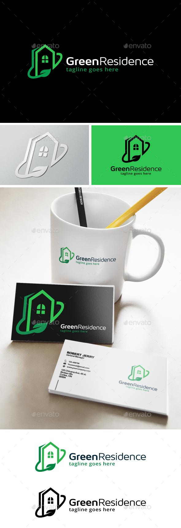 Green Residence Logo - Buildings Logo Templates