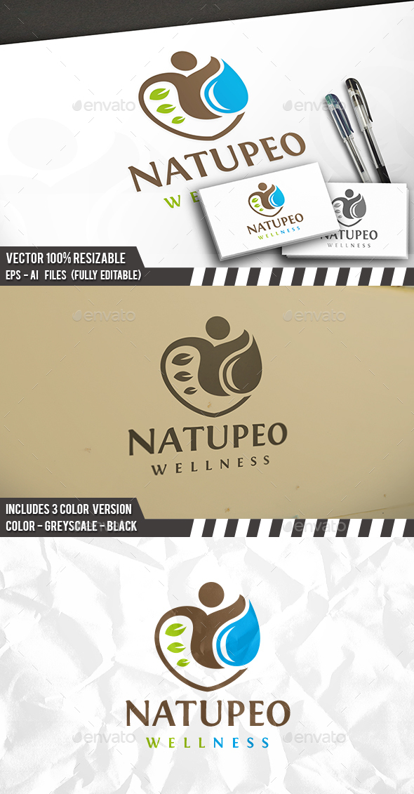 Nature People Logo - Nature Logo Templates