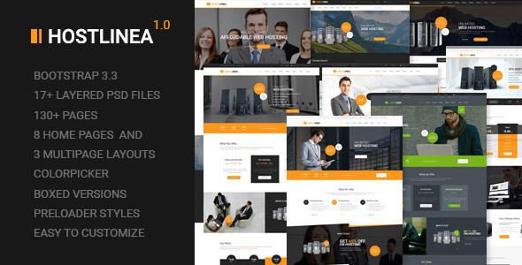 Hostlinea – Web Hosting, Responsive HTML5 Template
